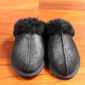 UGG Worn Once Black Metallic Slippers 7